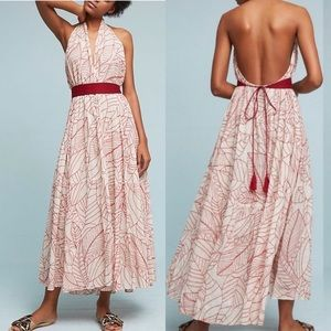 Anthropologie Lilka Samarkand Maxi Wrap Dress
